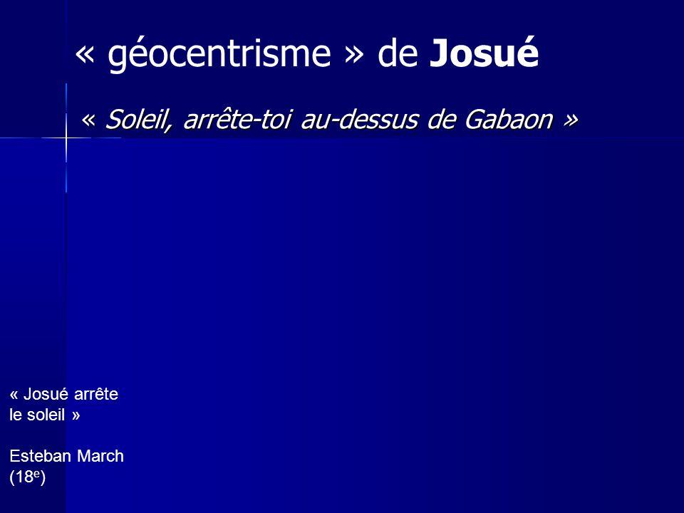 « géocentrisme » de Josué