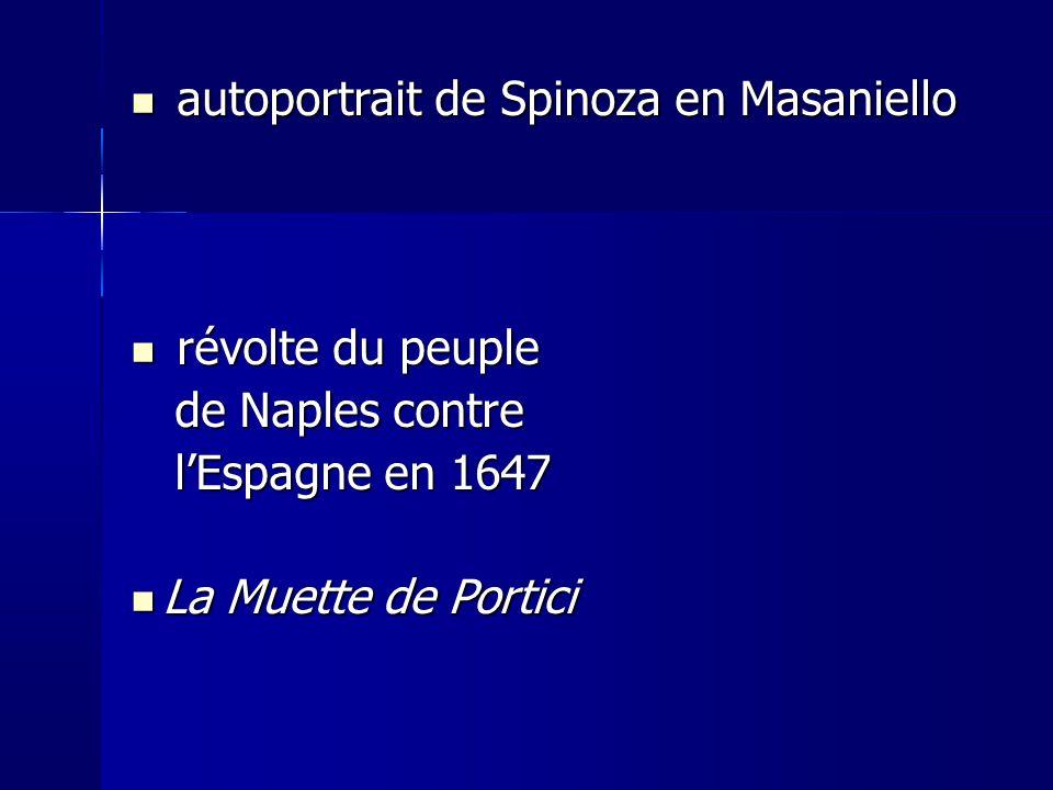 autoportrait de Spinoza en Masaniello
