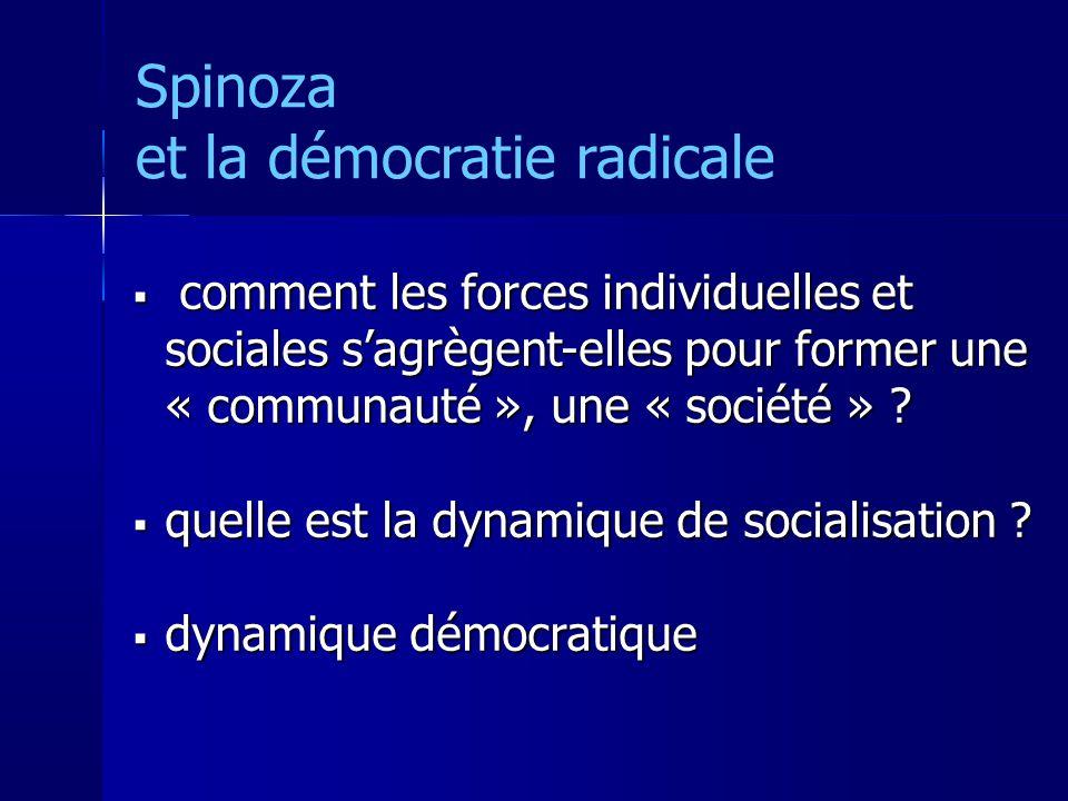 Spinoza et la démocratie radicale