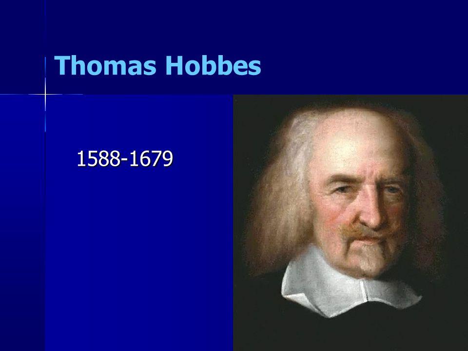 Thomas Hobbes 1588-1679 69