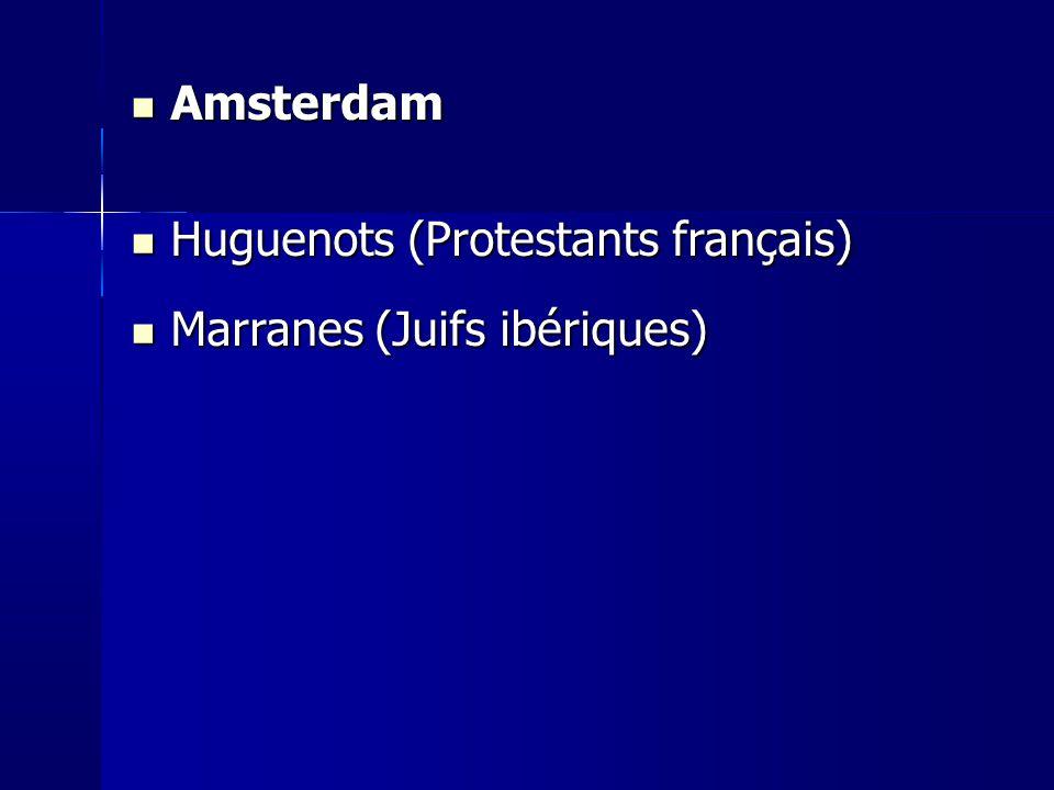 Huguenots (Protestants français) Marranes (Juifs ibériques)