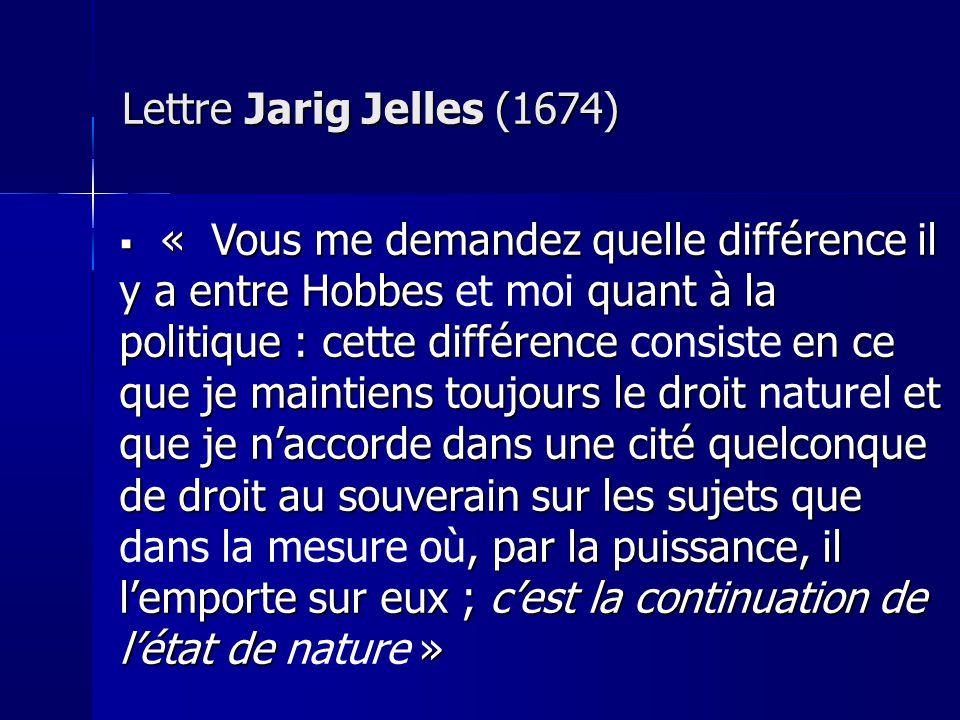 Lettre Jarig Jelles (1674)