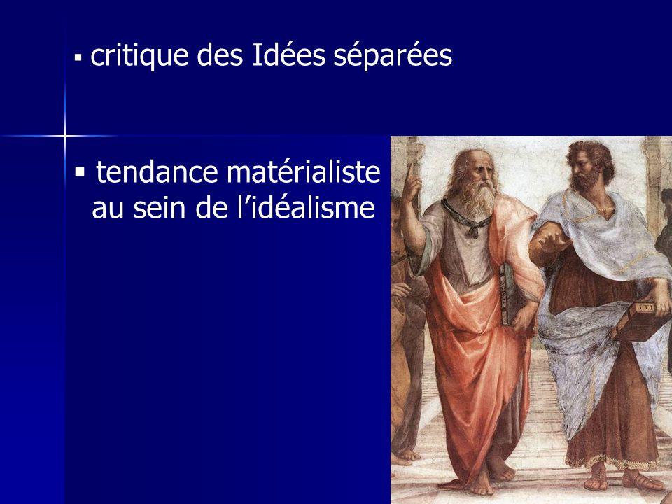 tendance matérialiste au sein de l'idéalisme