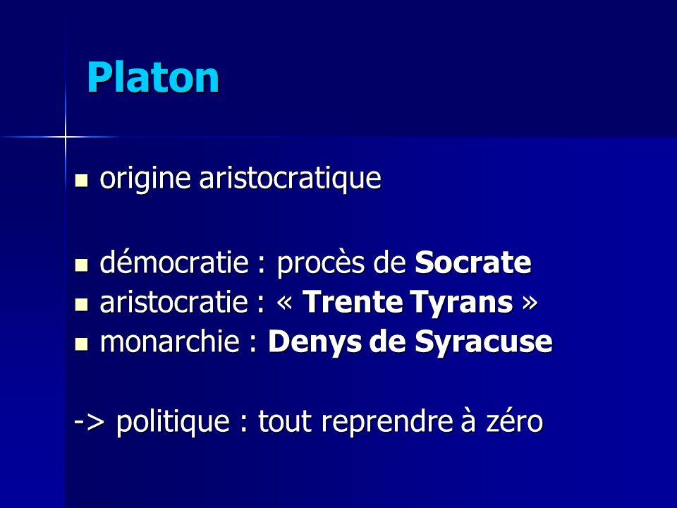 Platon origine aristocratique démocratie : procès de Socrate