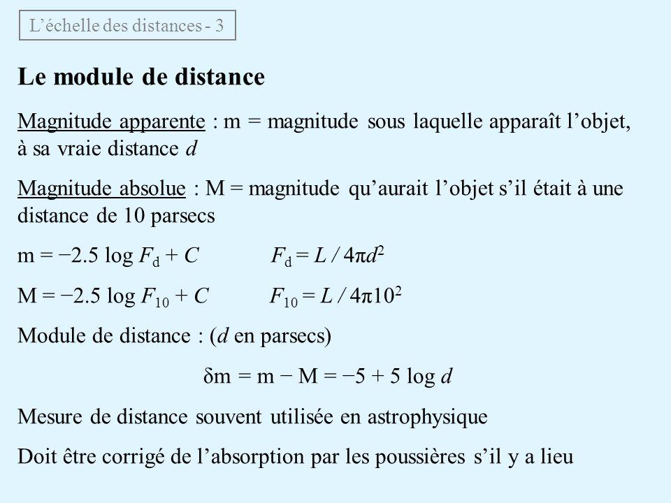 L'échelle des distances - 3