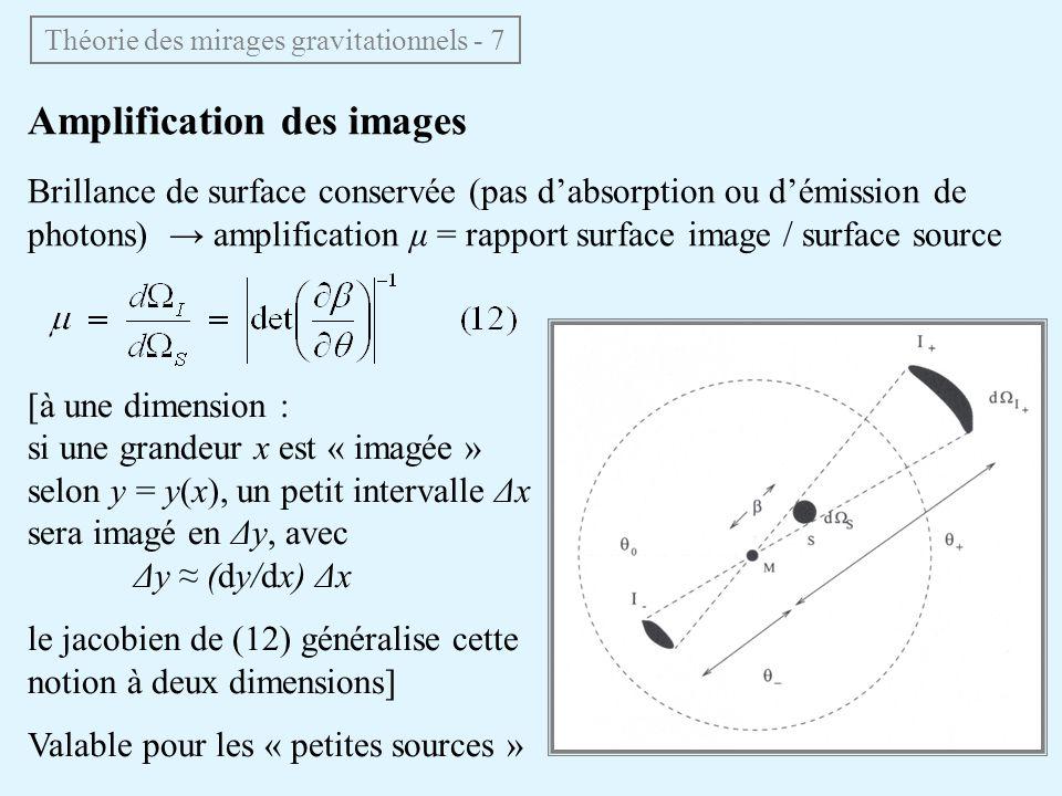 Théorie des mirages gravitationnels - 7