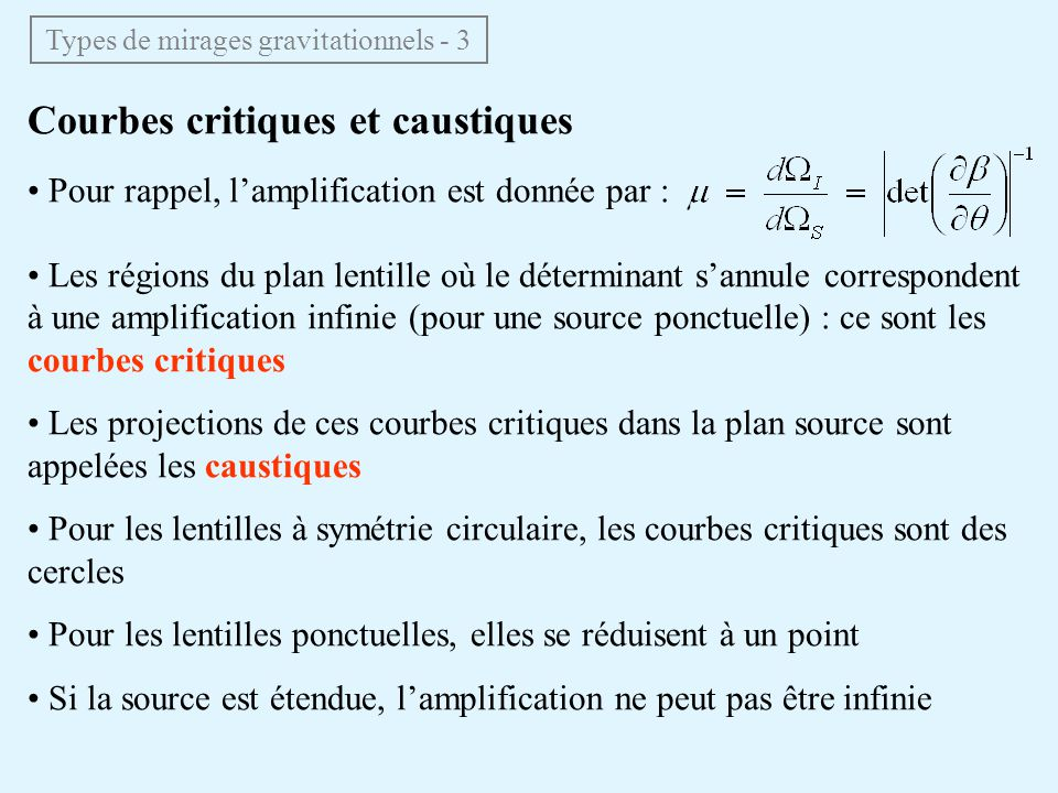 Types de mirages gravitationnels - 3