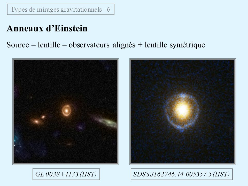 Types de mirages gravitationnels - 6