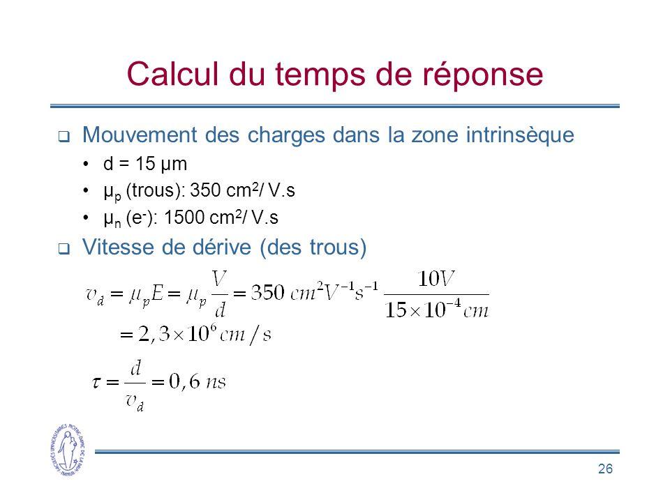 Calcul du temps de réponse