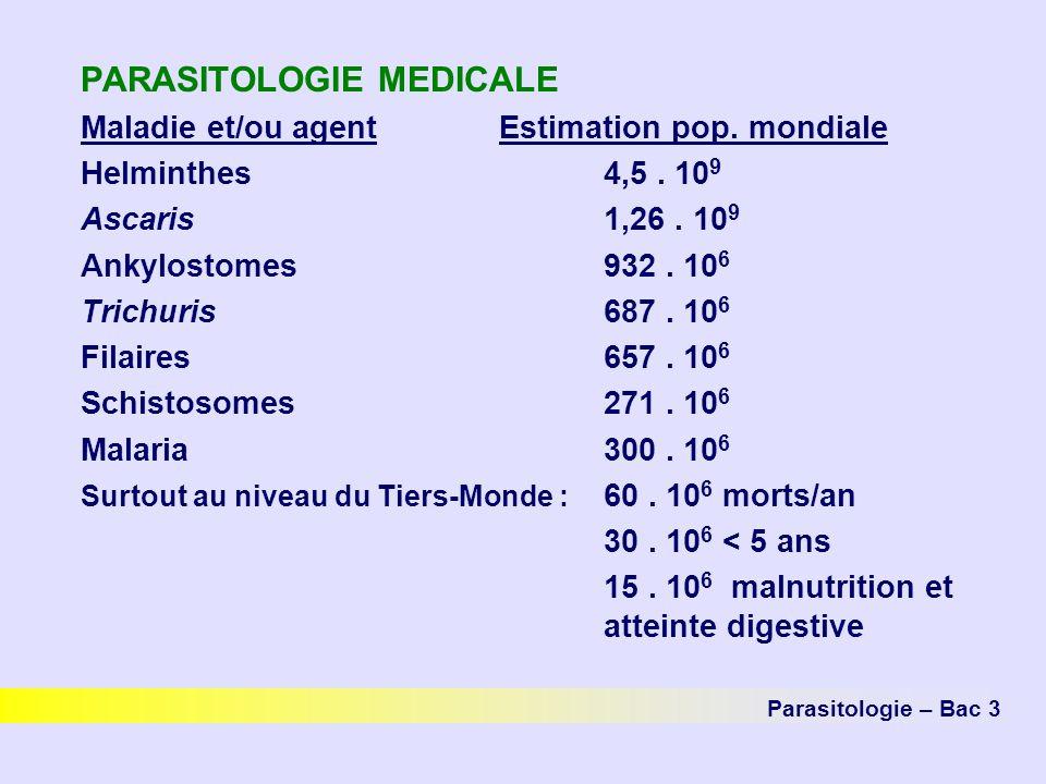 PARASITOLOGIE MEDICALE