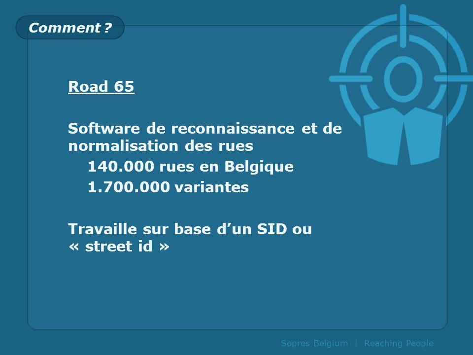 Software de reconnaissance et de normalisation des rues