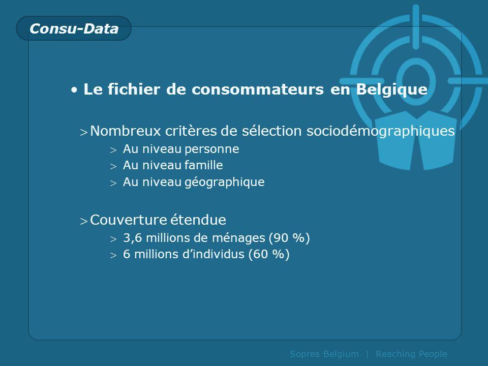 Le fichier de consommateurs en Belgique