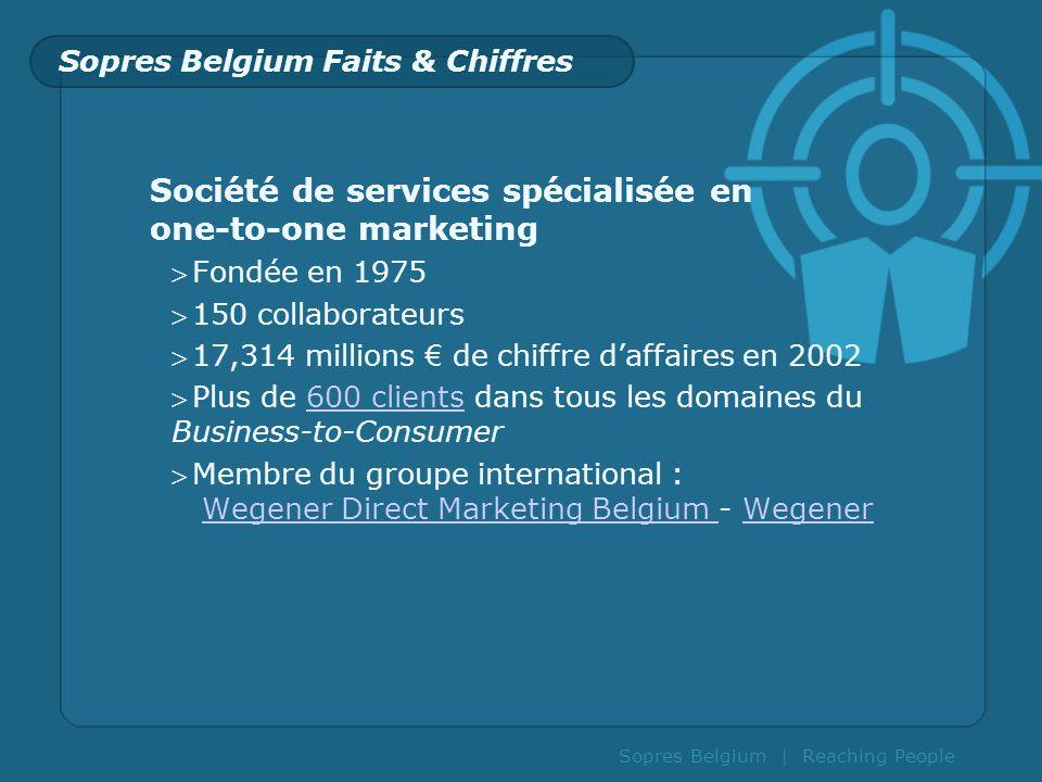 Sopres Belgium Faits & Chiffres