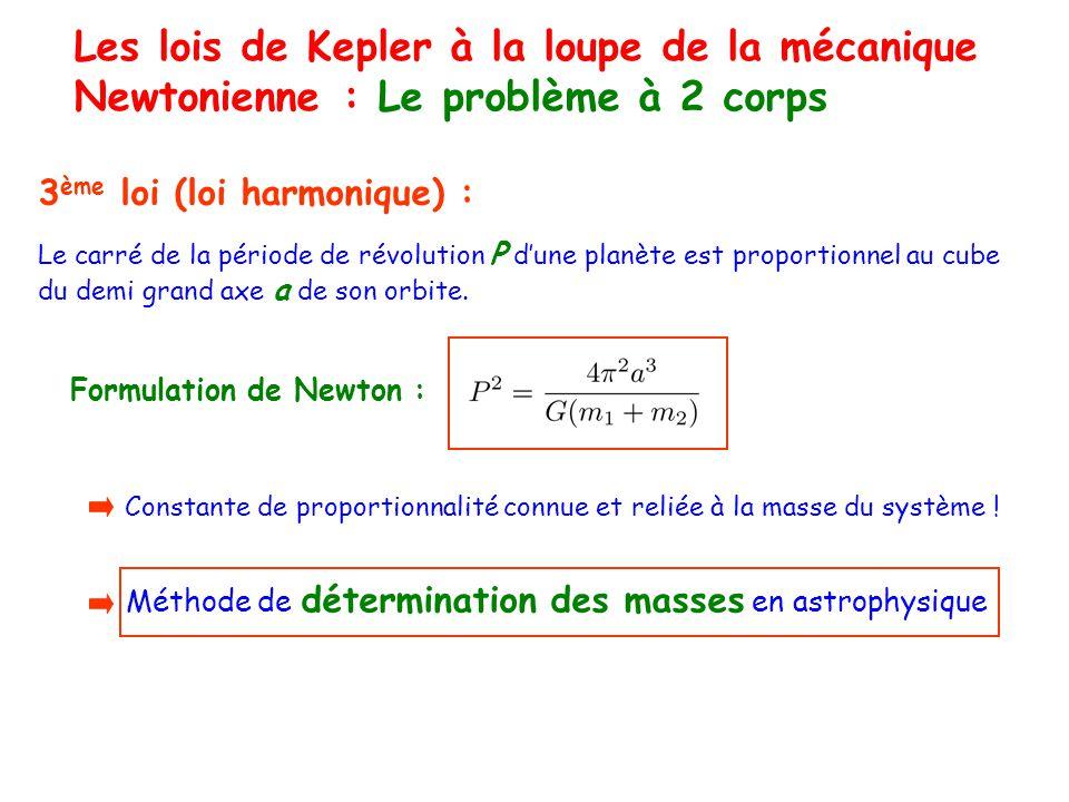 Les lois de Kepler à la loupe de la mécanique Newtonienne : Le problème à 2 corps