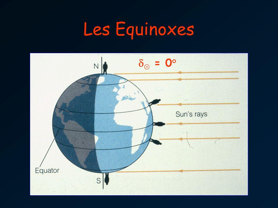 Les Equinoxes d¯ = 0°