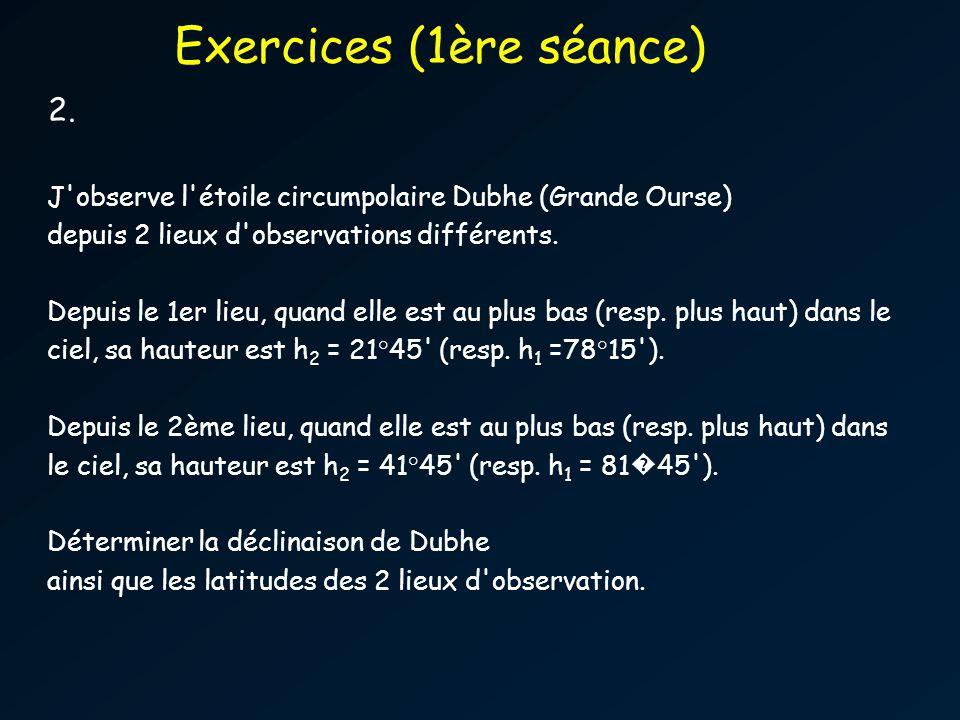 Exercices (1ère séance)