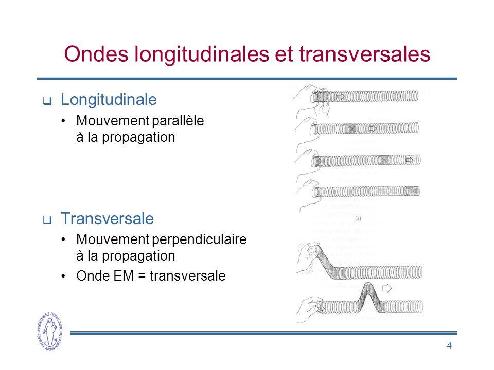 Ondes longitudinales et transversales
