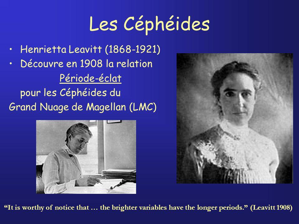 Les Céphéides Henrietta Leavitt (1868-1921)