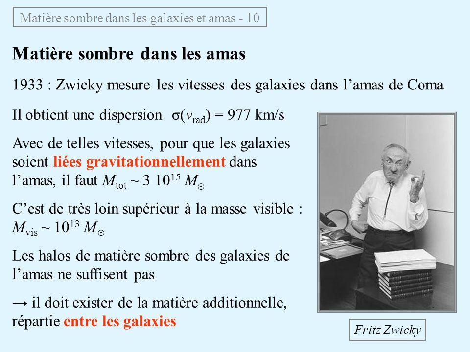 Matière sombre dans les galaxies et amas - 10