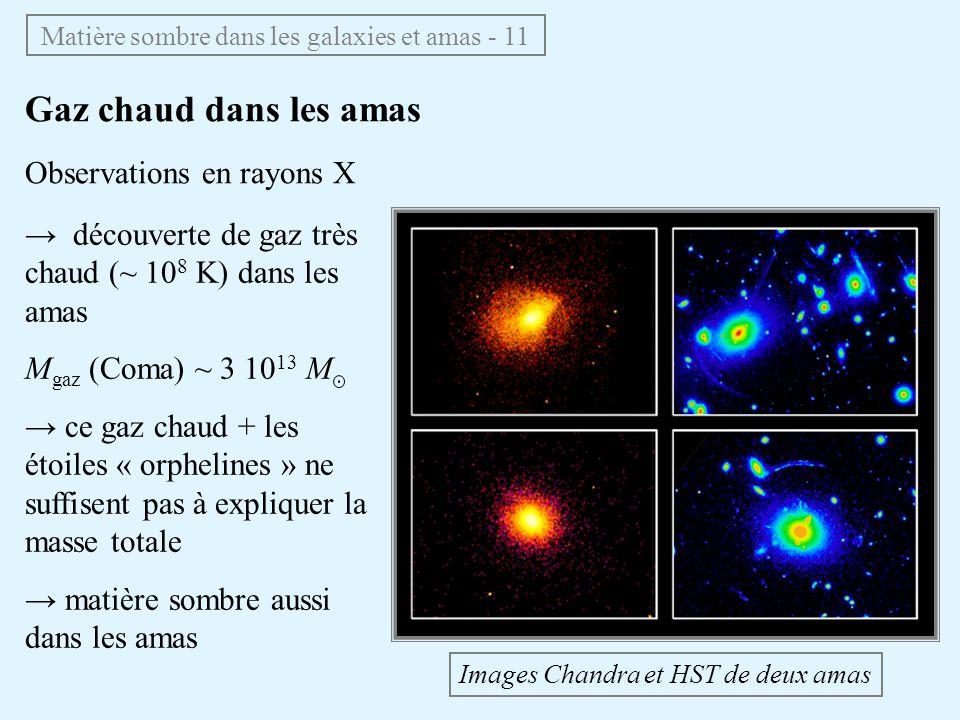 Matière sombre dans les galaxies et amas - 11