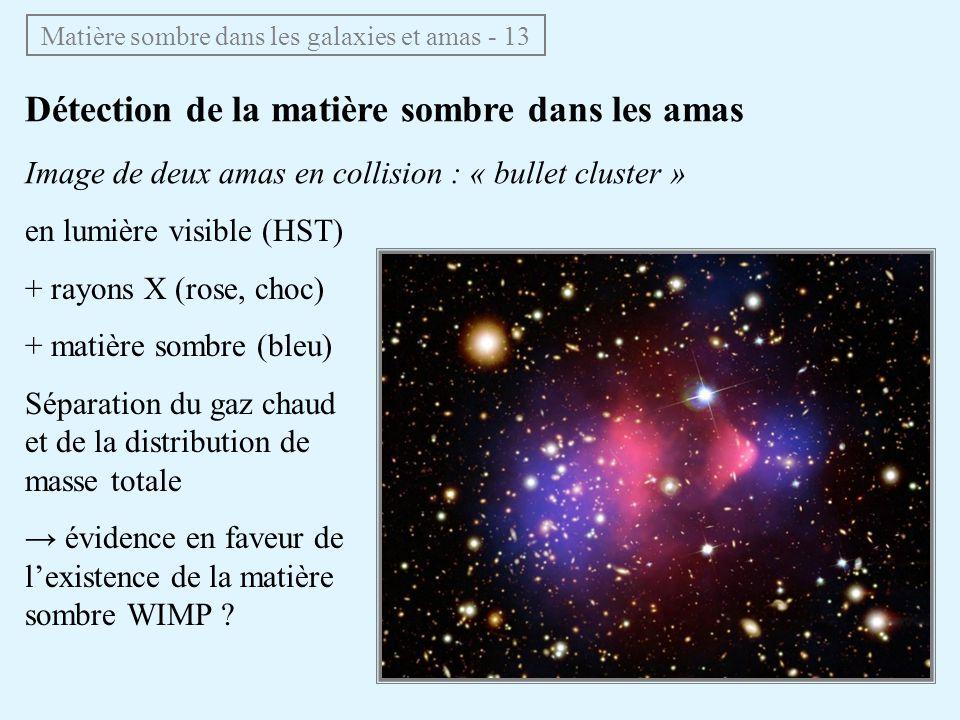 Matière sombre dans les galaxies et amas - 13
