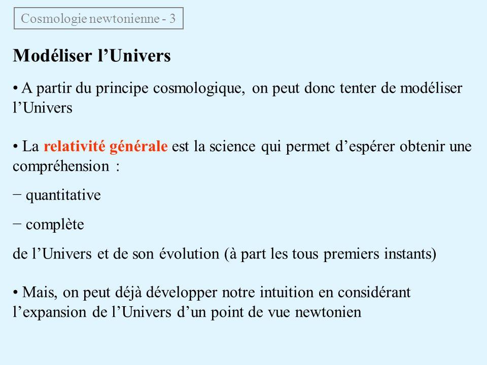 Cosmologie newtonienne - 3