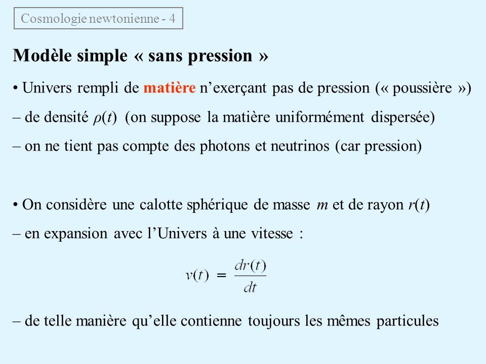 Cosmologie newtonienne - 4