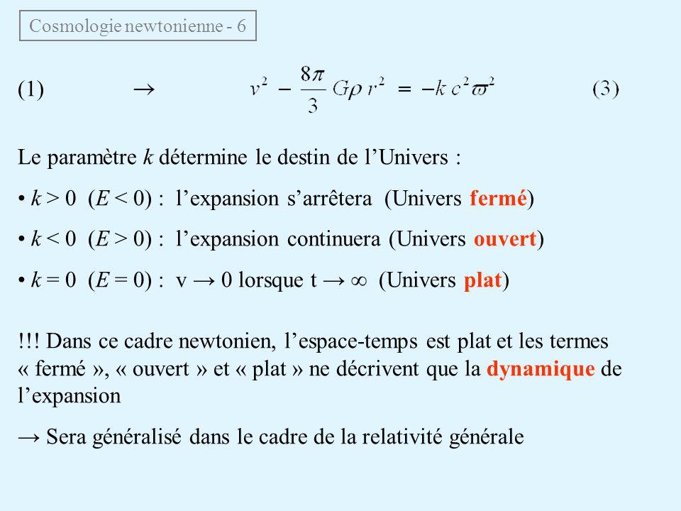 Cosmologie newtonienne - 6