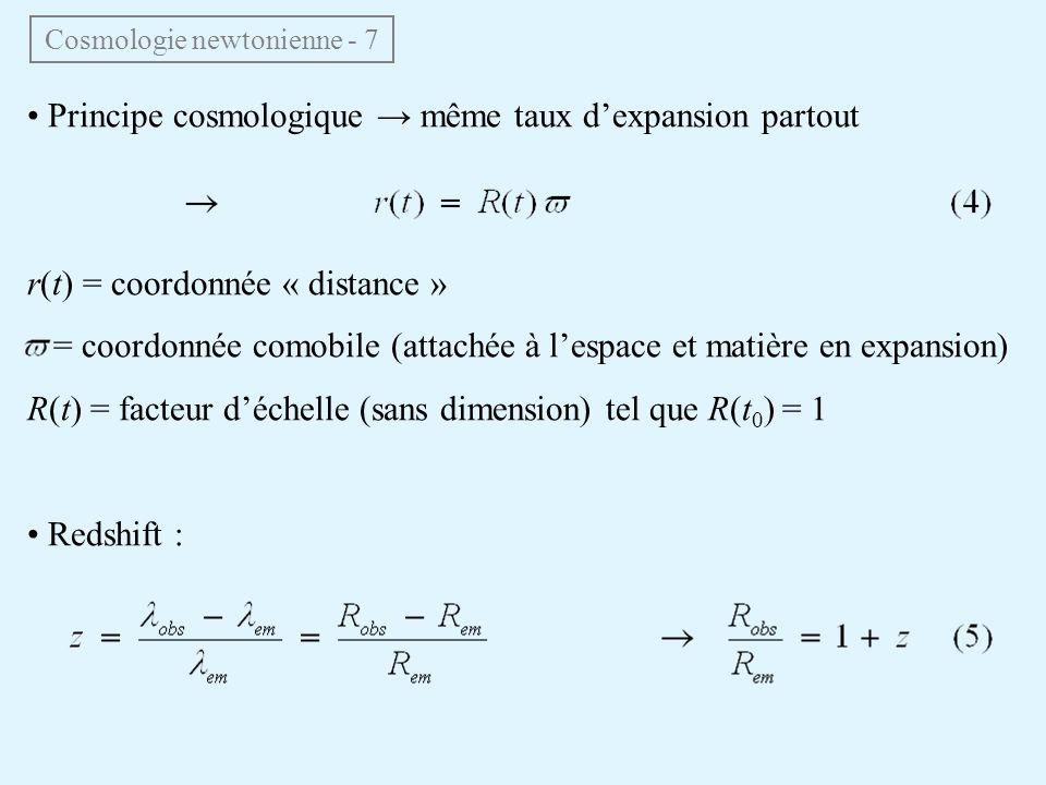 Cosmologie newtonienne - 7