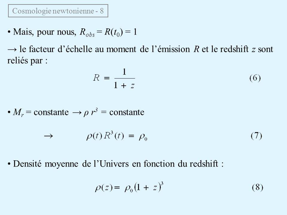 Cosmologie newtonienne - 8