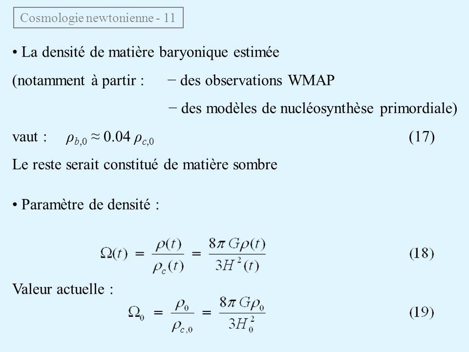 Cosmologie newtonienne - 11