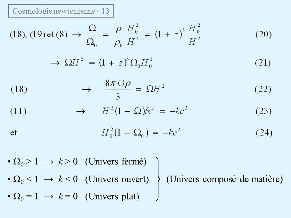 Cosmologie newtonienne - 13