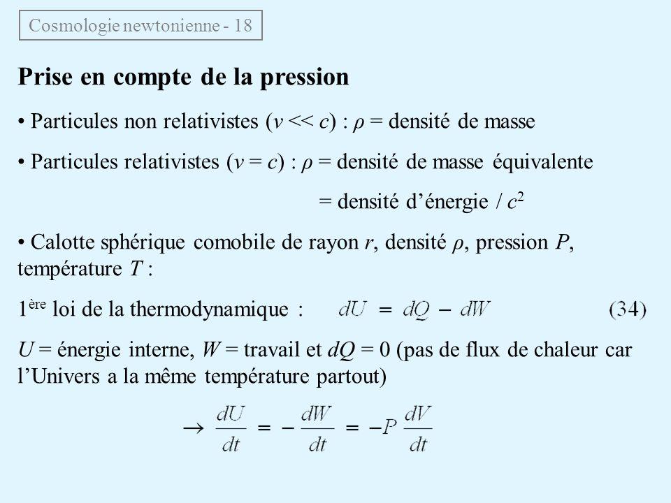 Cosmologie newtonienne - 18