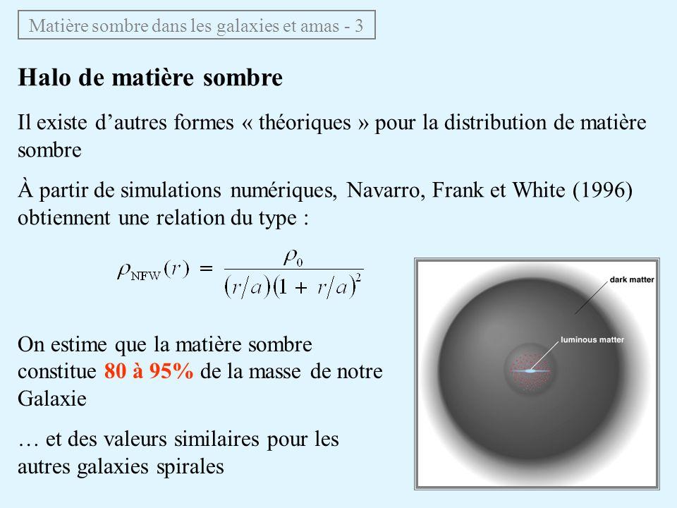Matière sombre dans les galaxies et amas - 3