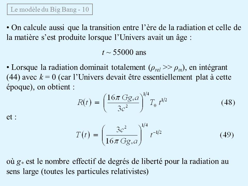 Le modèle du Big Bang - 10