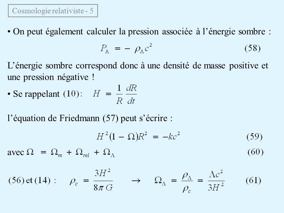 Cosmologie relativiste - 5