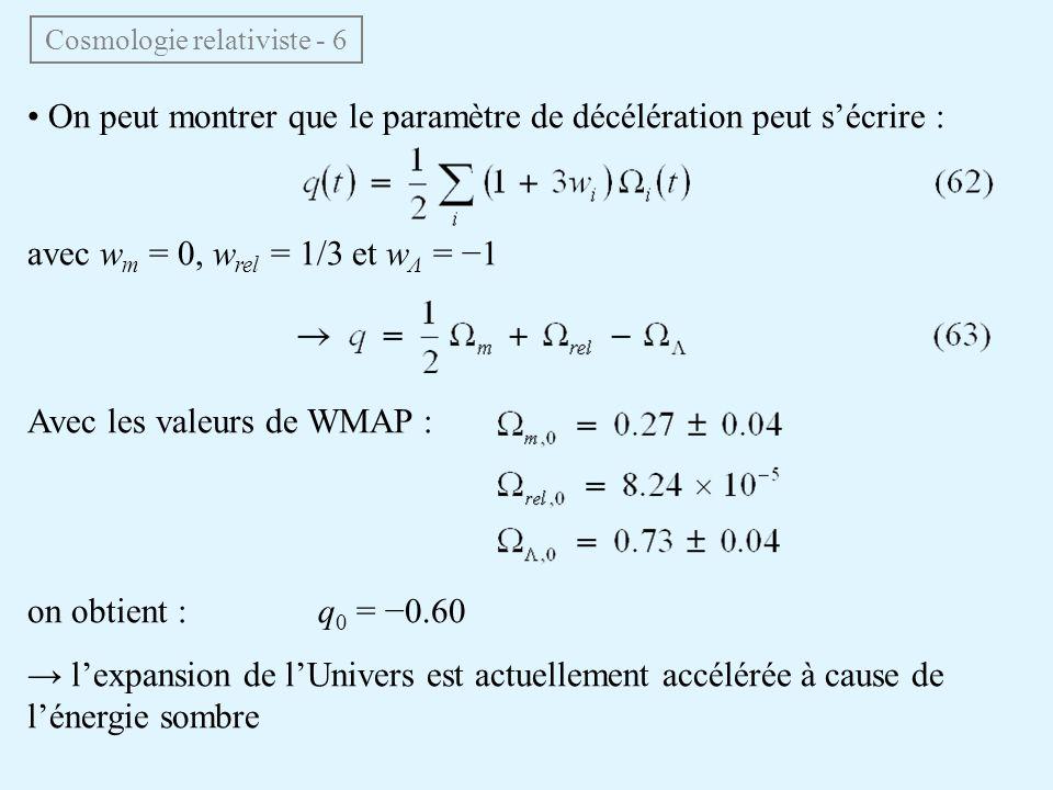 Cosmologie relativiste - 6