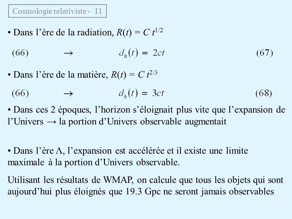 Cosmologie relativiste - 11