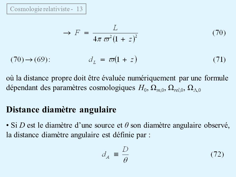 Cosmologie relativiste - 13