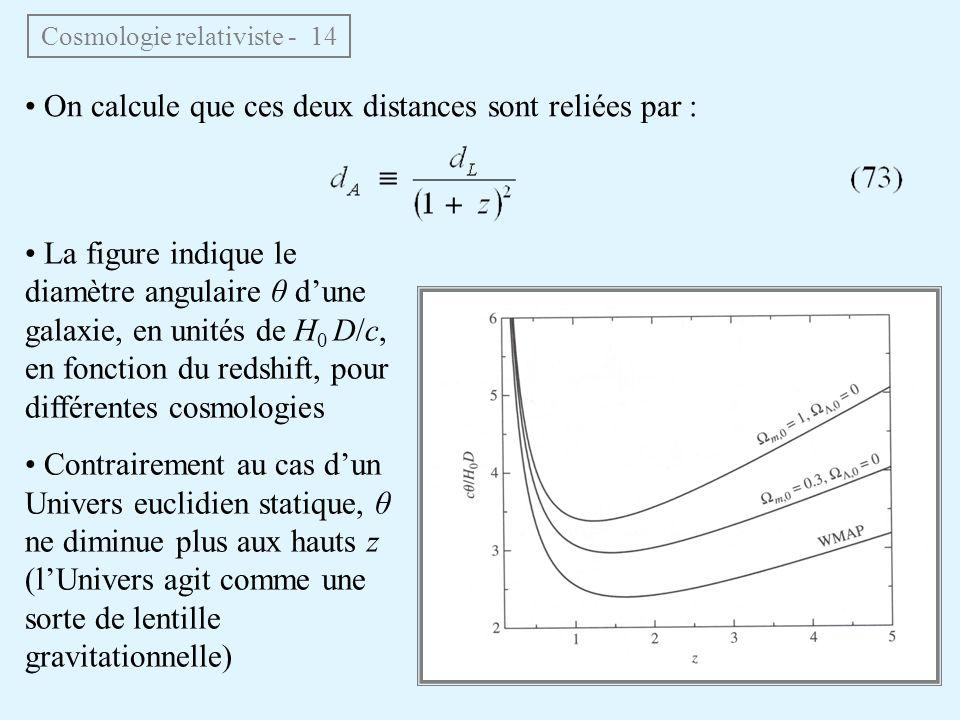 Cosmologie relativiste - 14