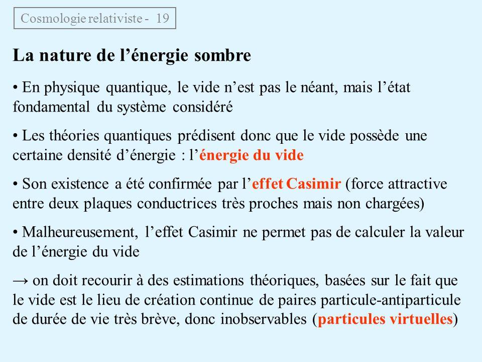 Cosmologie relativiste - 19