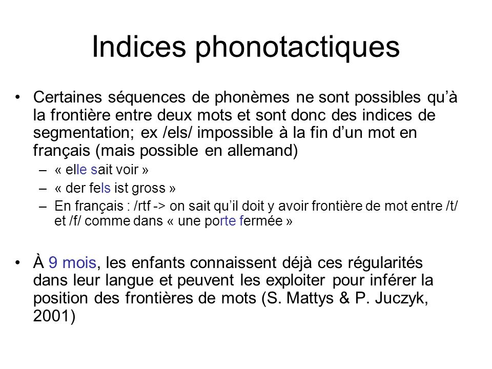 Indices phonotactiques