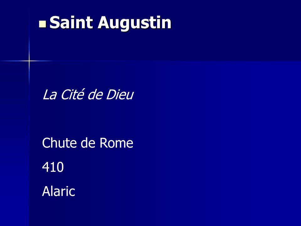 Saint Augustin La Cité de Dieu Chute de Rome 410 Alaric