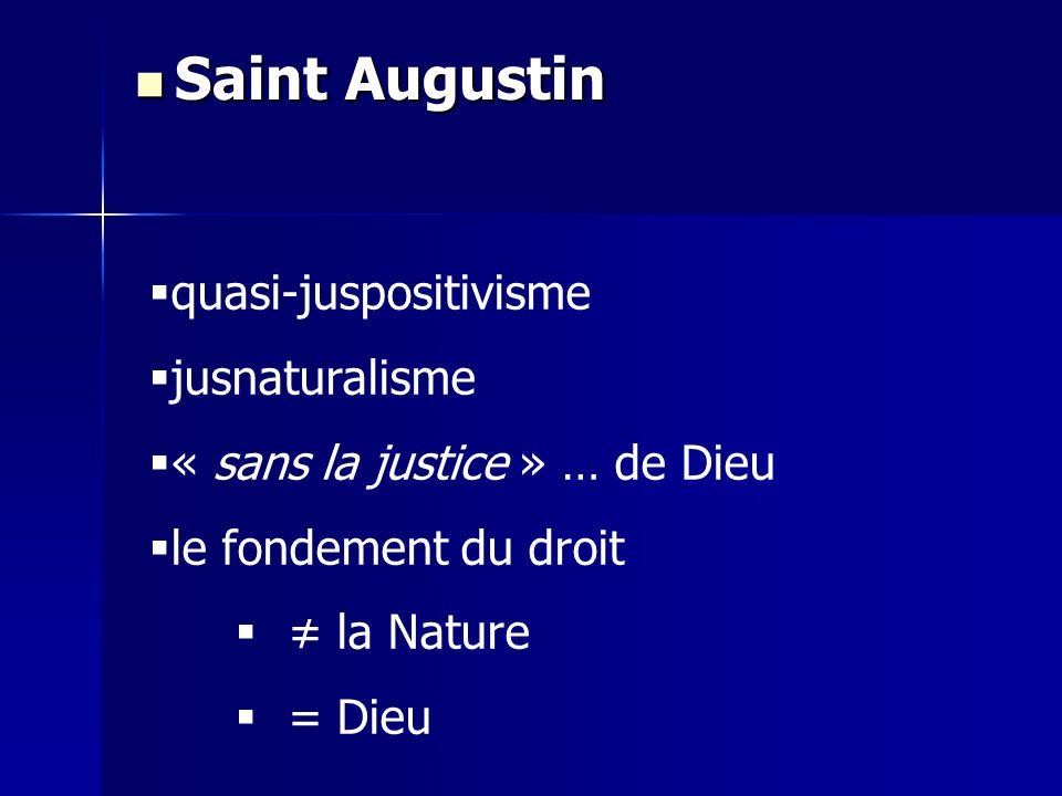 Saint Augustin quasi-juspositivisme jusnaturalisme