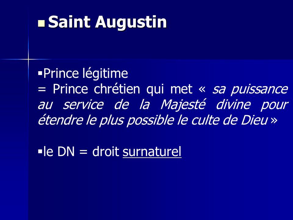 Saint Augustin Prince légitime