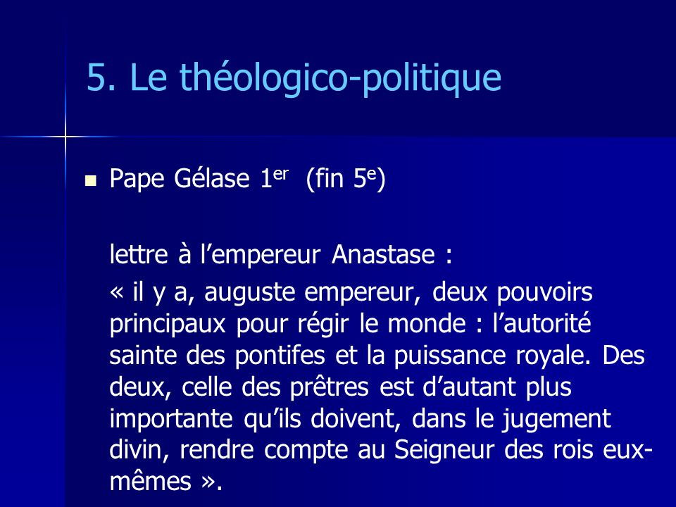 5. Le théologico-politique