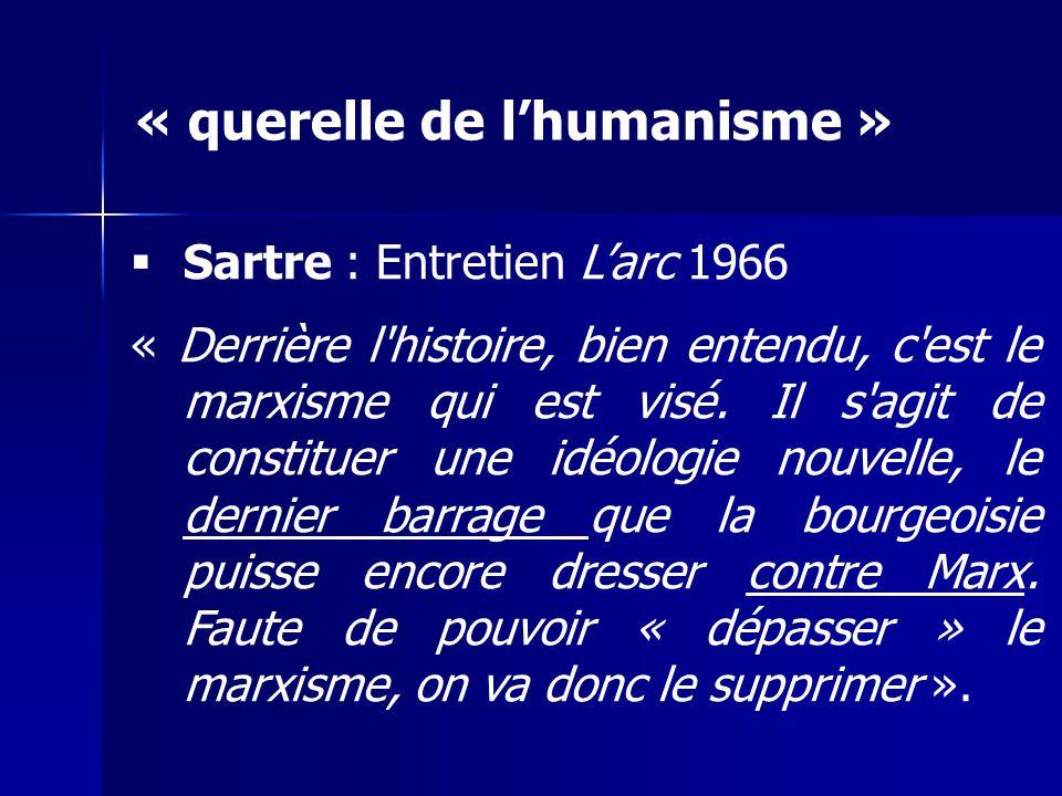 « querelle de l'humanisme »