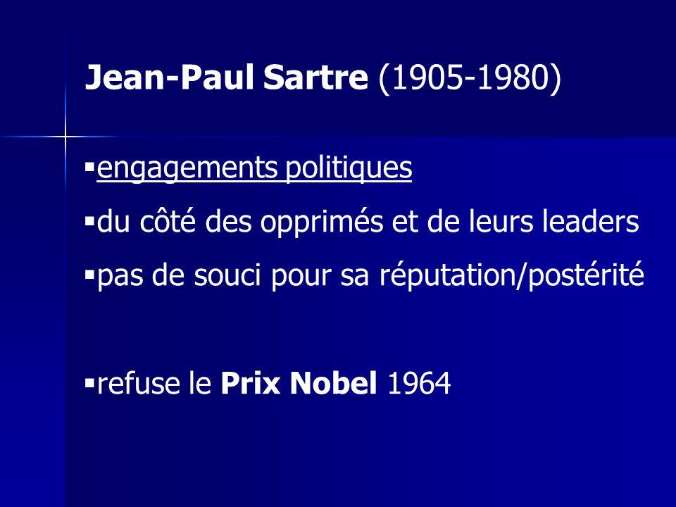 Jean-Paul Sartre (1905-1980) engagements politiques