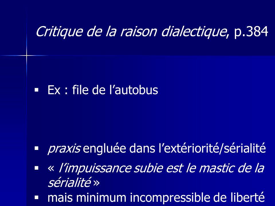 Critique de la raison dialectique, p.384