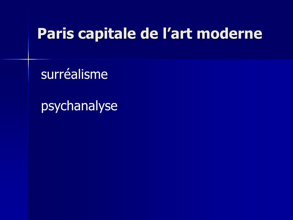 Paris capitale de l'art moderne